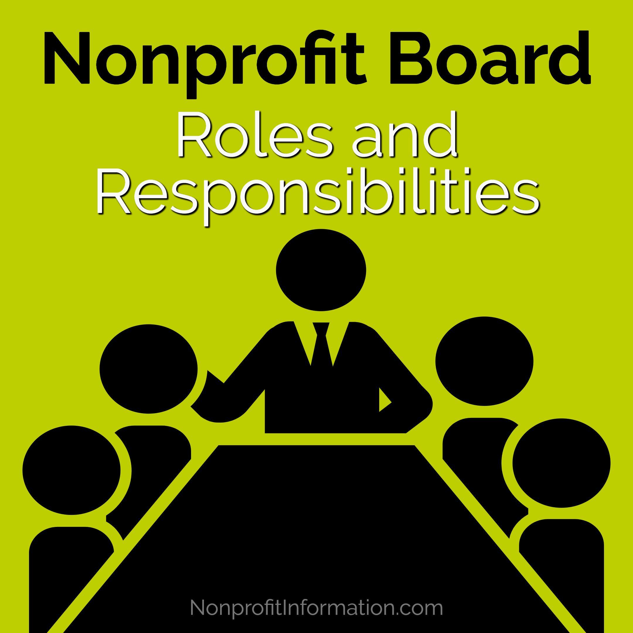 Roles of a Nonprofit Board Nonprofit Board Roles