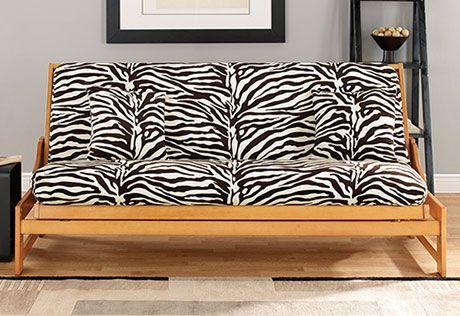 Velvet Zebra Futon Cover