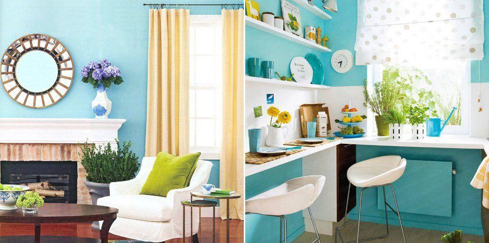 El verde azulado en la decoraci n de interiores for Decoracion de interiores verde
