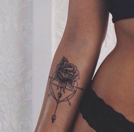 Unterarm tattoo frau rosen
