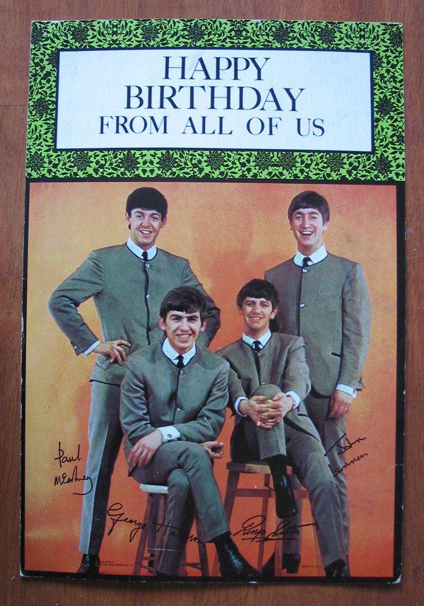 Fab Oversized Beatles Birthday Card In 2018 Beatles Pinterest