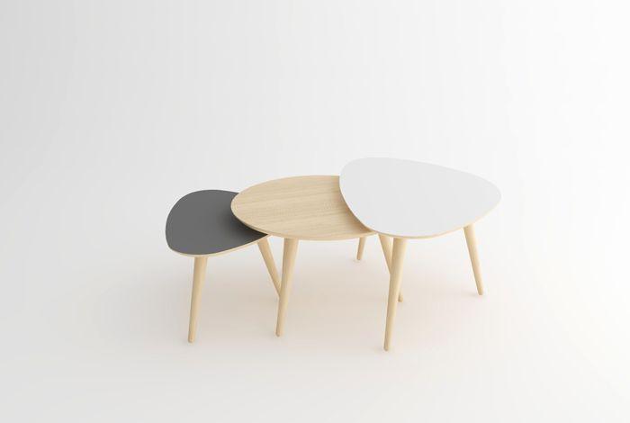 Creation sur-mesure // trio tables basses tripode / ref-tbt-s-03 ...