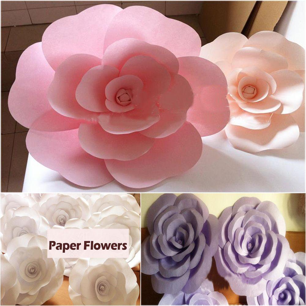 Barato decora o do casamento de papel grande rosa branco - Comprar papel decorativo ...