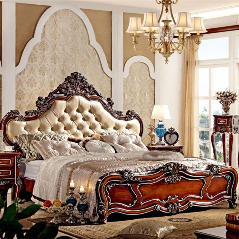 European Style Luxury Bedding King Size Bedroom set designs