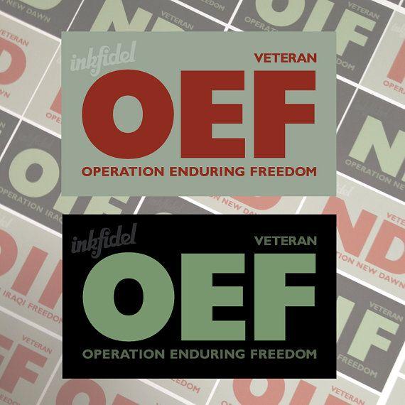 Operation Iraqi Freedom//Operation Enduring Freedom Veteran Decal