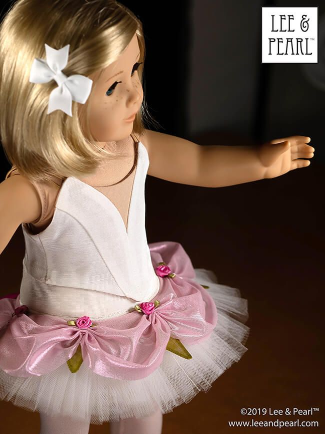 COMING SOON from Lee & Pearl — a new dance sewing pattern for American Girl dolls! Look for Pattern 1074: Ballet Costume Accessories Mix-and-Match Tutu Plates and Elastic Sleeves for 18 Inch Dolls, coming soon to the leeandpearl Etsy store! #18inchdollsandclothes