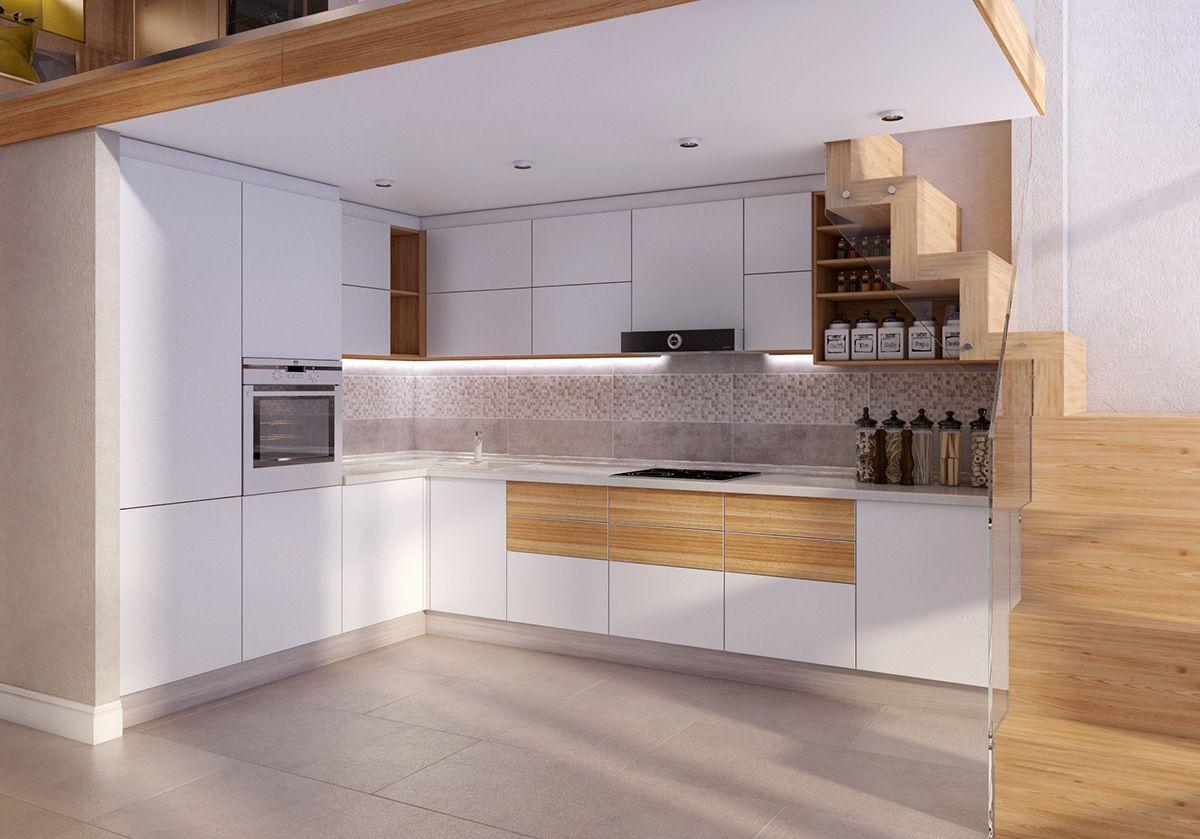 4 Duplex Lofts With Massive Windows Kitchen Designs Pinterest