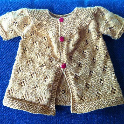 Daily Knit Pattern: Lace Baby Cardigan | knitting | Pinterest | Baby ...