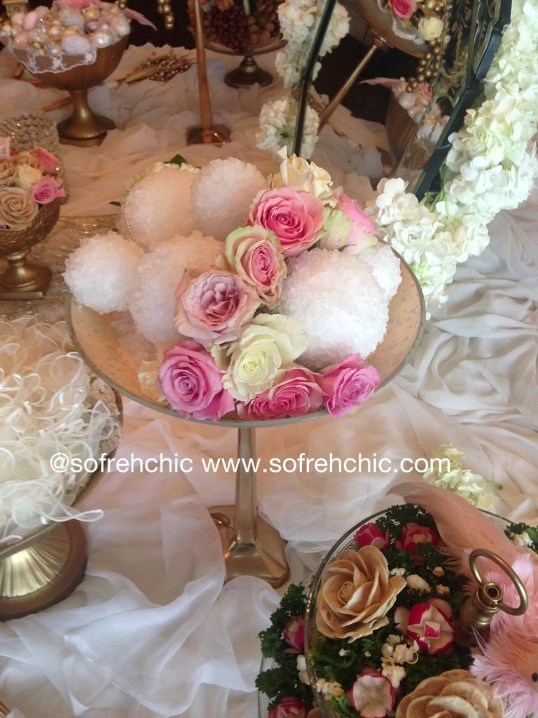 Persian wedding sofreh aghd by Sofreh Chic- nabat / rock candy