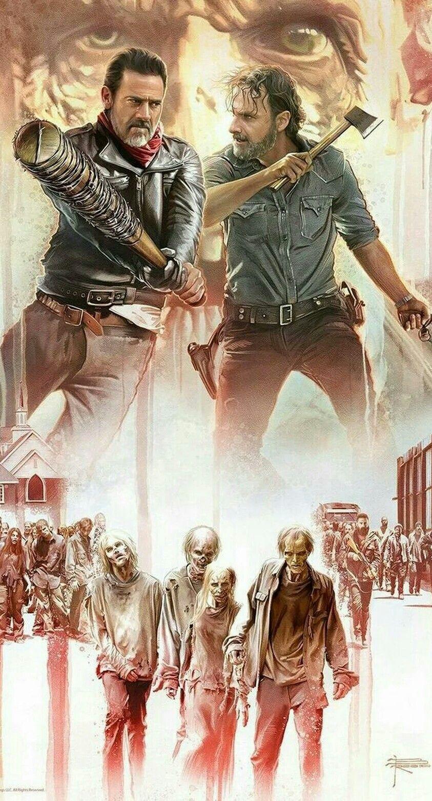 Rick V Negan The Walking Dead Poster Fear The Walking Dead