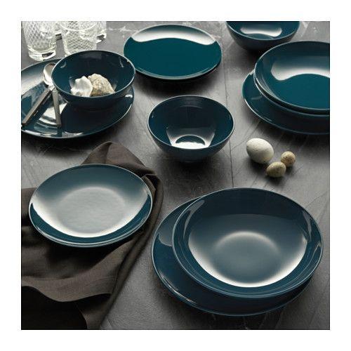 f rgrik assiette turquoise fonc my place. Black Bedroom Furniture Sets. Home Design Ideas