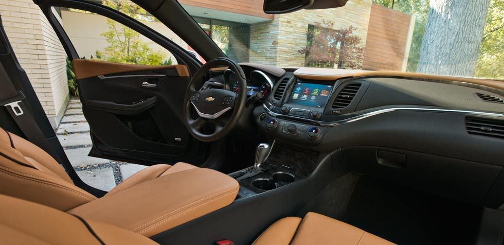The 2014 Impala Interior Shown In Jet Black Mojave With Leather