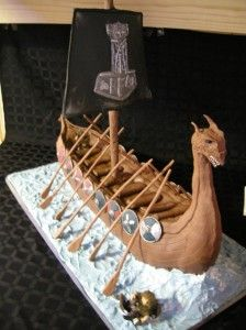Ancient Norseman's Ship Meets Modern Birthday – Jessicas Cakes, boutique, creative cake shop in Minneapolis, MN