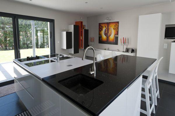 cuisine design ilot central - recherche google | casa-cuisines ... - Cuisine Equipee Ilot Central