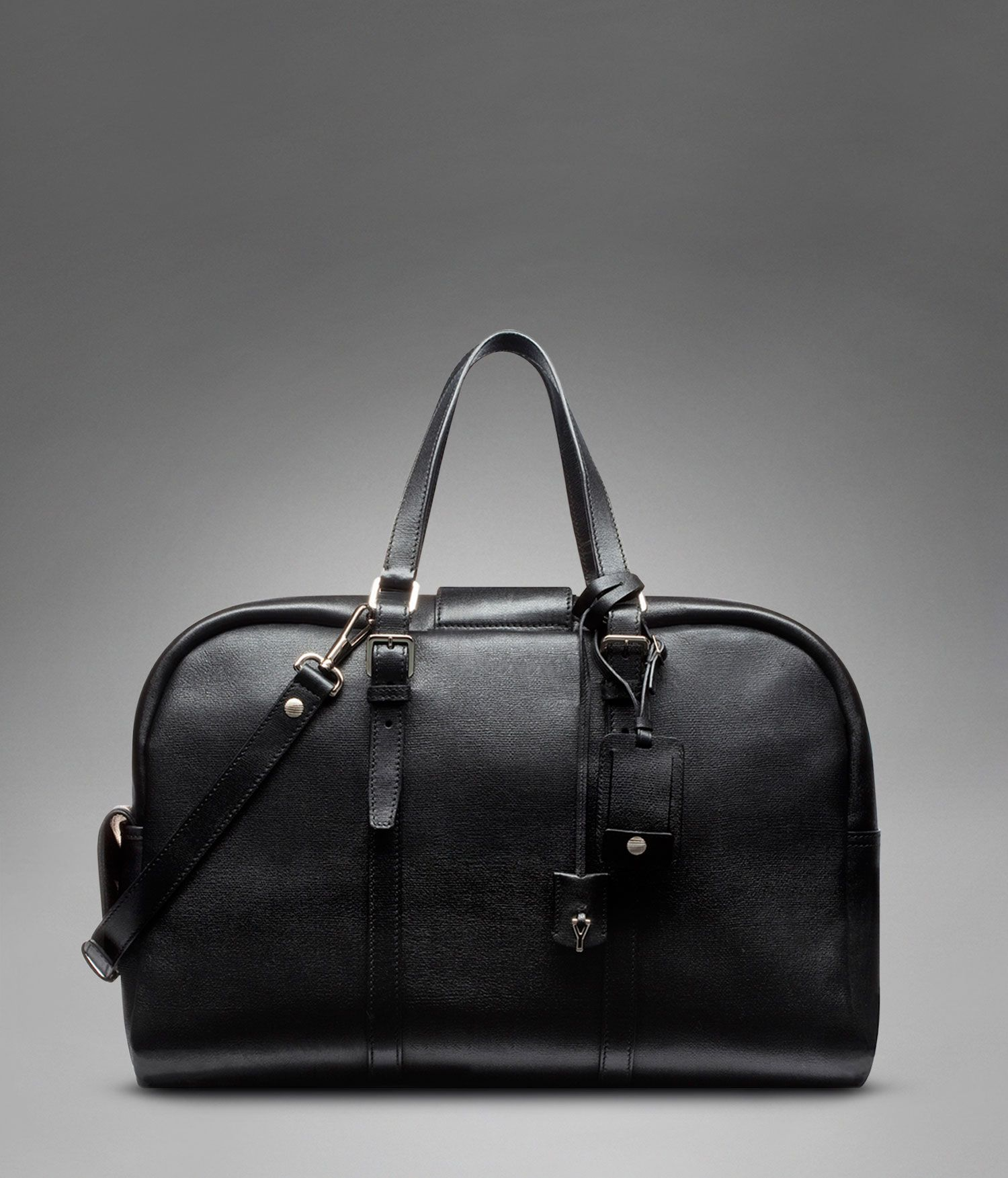 016e212a7b Yves Saint Laurent - MEN's leather travel bag - Ycon Weekend Bag in Black  Textured Leather €1,695.00