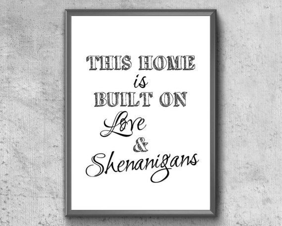 Download Family Quote | Printable Wall Art | This Home Is Built On ...