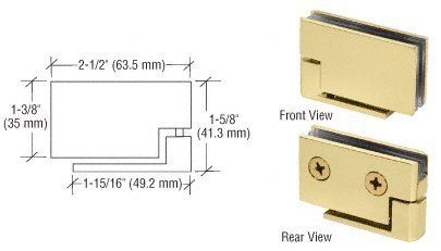 Crl Brass Surface Mount Cabinet Pivot Hinges By Cr Laurence By Cr Laurence 50 51 For 1 4 To 5 16 6 To 8 Mm Thick Glass Solid Brass Construction R Laurence