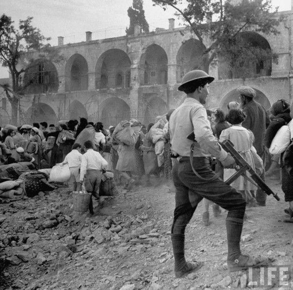 LIFE Magazine, Jews evacuating Jerusalem, 1948.