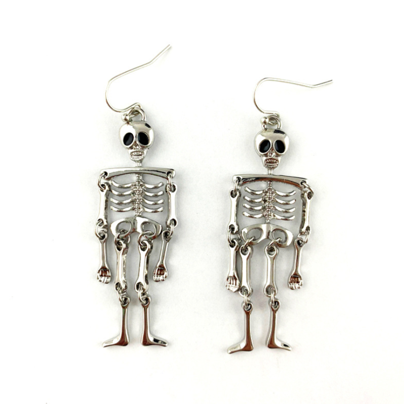 Product Name Exaggerated Skull Pendant All-match Women's Earrings SPU 10115587 Style Casual Jewelry Material Alloy Size One size Package Included 1 pair of earrings Notice: 1. Please allow 1-5mm differences due to manual measurement. 2. Due to the light and screen difference, the item's color may be slightly different from the pictures. Please understand and make sure you don't mind before you purchase.