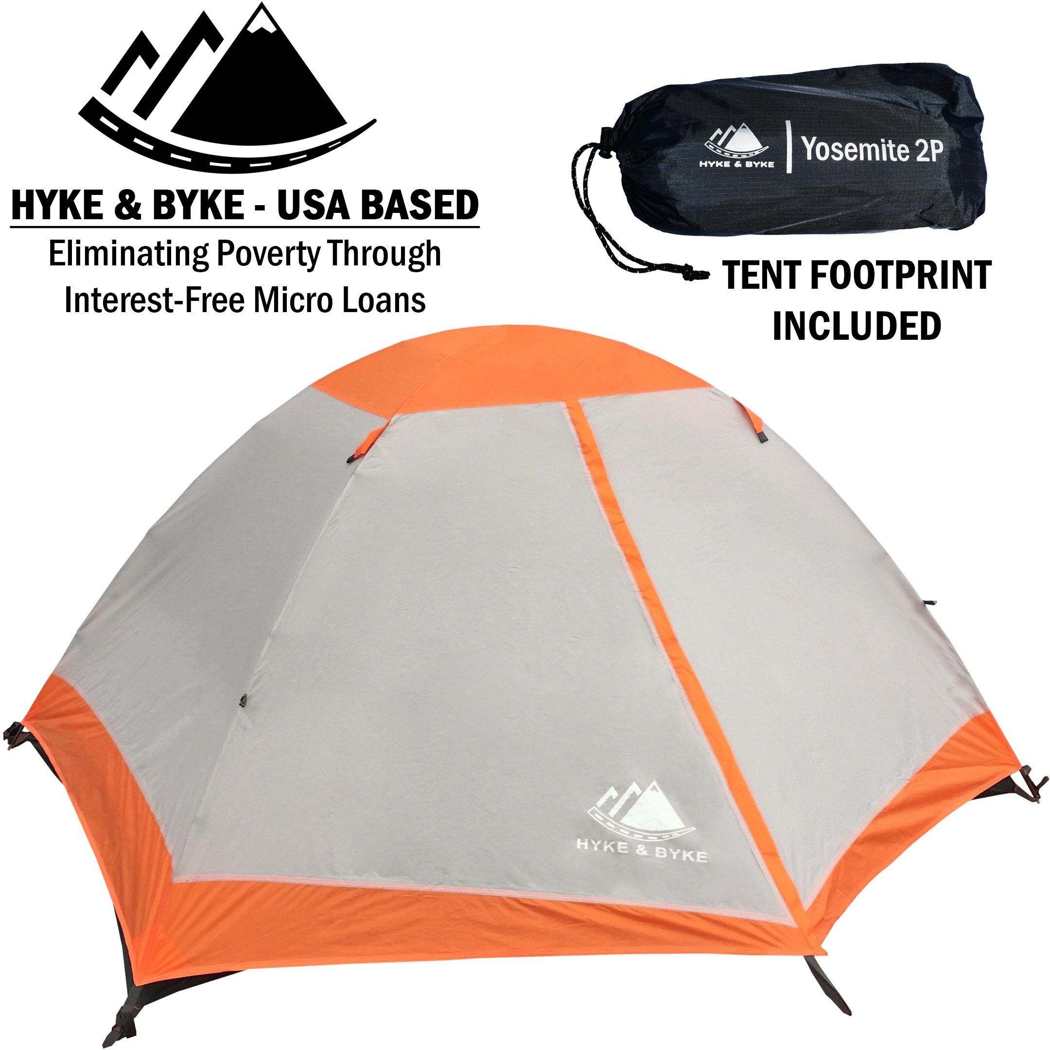 Hyke And Byke 2 Person Backpacking Tent Yosemite 2p 3 Season Tent Two Person Lightweight Design For Backpacking Bike P Backpacking Tent Tent Camping And Hiking