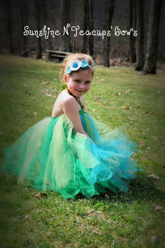 Sunshineu0027s Sea Princess Mermaid Dress 36 by SunshinenTeacupsBows  sc 1 st  Pinterest & Sunshineu0027s Sea Princess Mermaid Dress- 3-6 years old- Ready to Ship ...