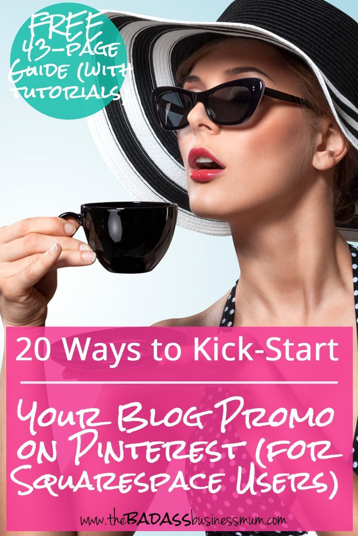 Keep reading to discover how to kick-start your Pinterest promo campaign for your Squarespace blog or website. 20 ways to optimise your Squarespace blog for Pinterest including detailed tutorials all in one 43-page FREE (no sign up required) guide!