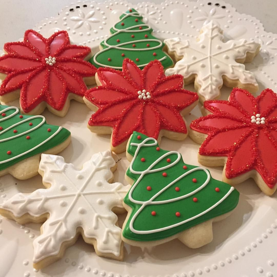 I Love The Traditional Red Green And White For Christmas Cookies