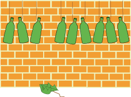 Ten Green Bottles Nrich Maths Org Green Bottle Student Gifts Bottle