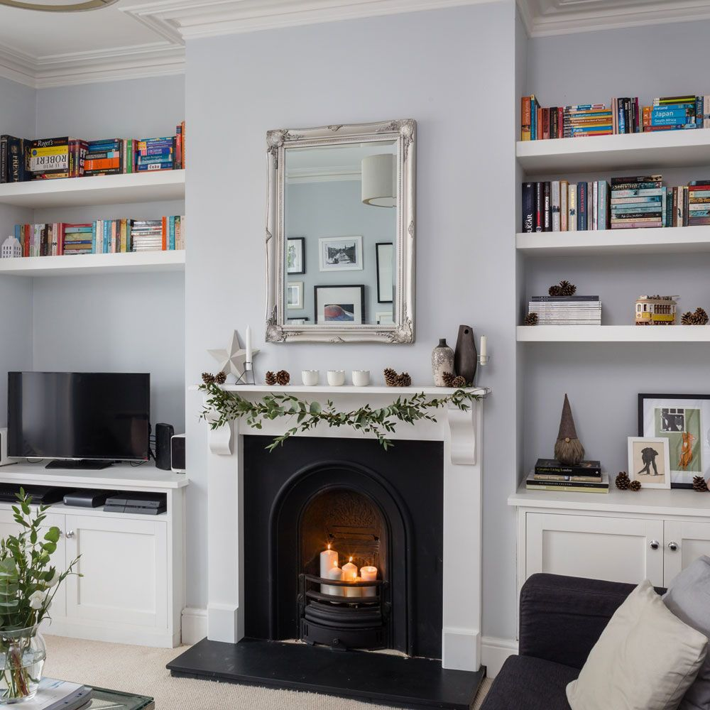 Take A Look Round This Cosy Victorian Terrace With Modern: Great Yellow Fireplace Ideas You'll Love