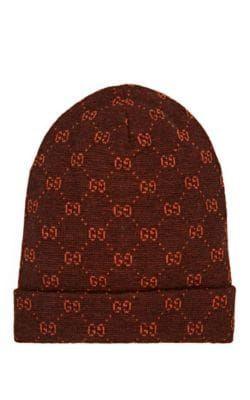 995a69bb GUCCI GG LOGO ALPACA-WOOL BEANIE - BROWN SIZE M. #gucci | Gucci ...