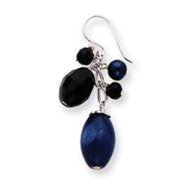 Sterling Silver Sodalite, Blue Goldstone, Black Crystal, Culture