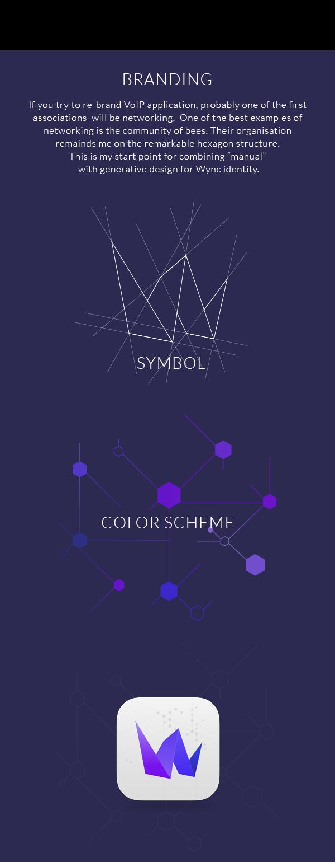 Wync by Adi Dizdarevic, via Behance Voip, Example, Branding