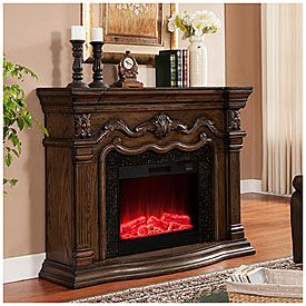 "62"" Grand Oak Electric Fireplace at Big Lots. I want this.  I"