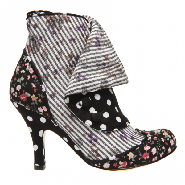 I love the pattern mixing in this boot!
