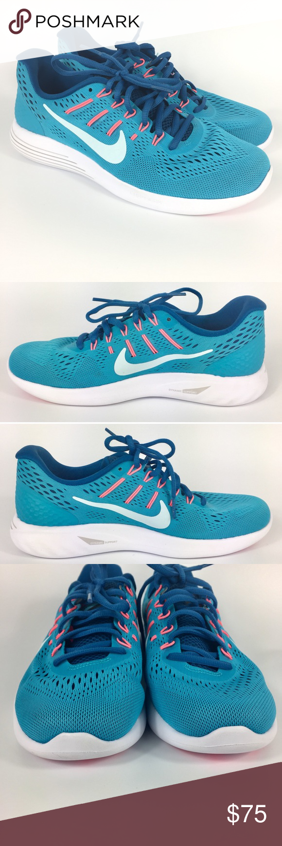ab665c6b6daea Nike Lunarglide 8 Running Sneakers 843726-405 Blue These Nike Lunarglide 8  running sneakers are