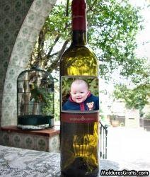Rótulo da garrafa Moldura para montagem com fotos