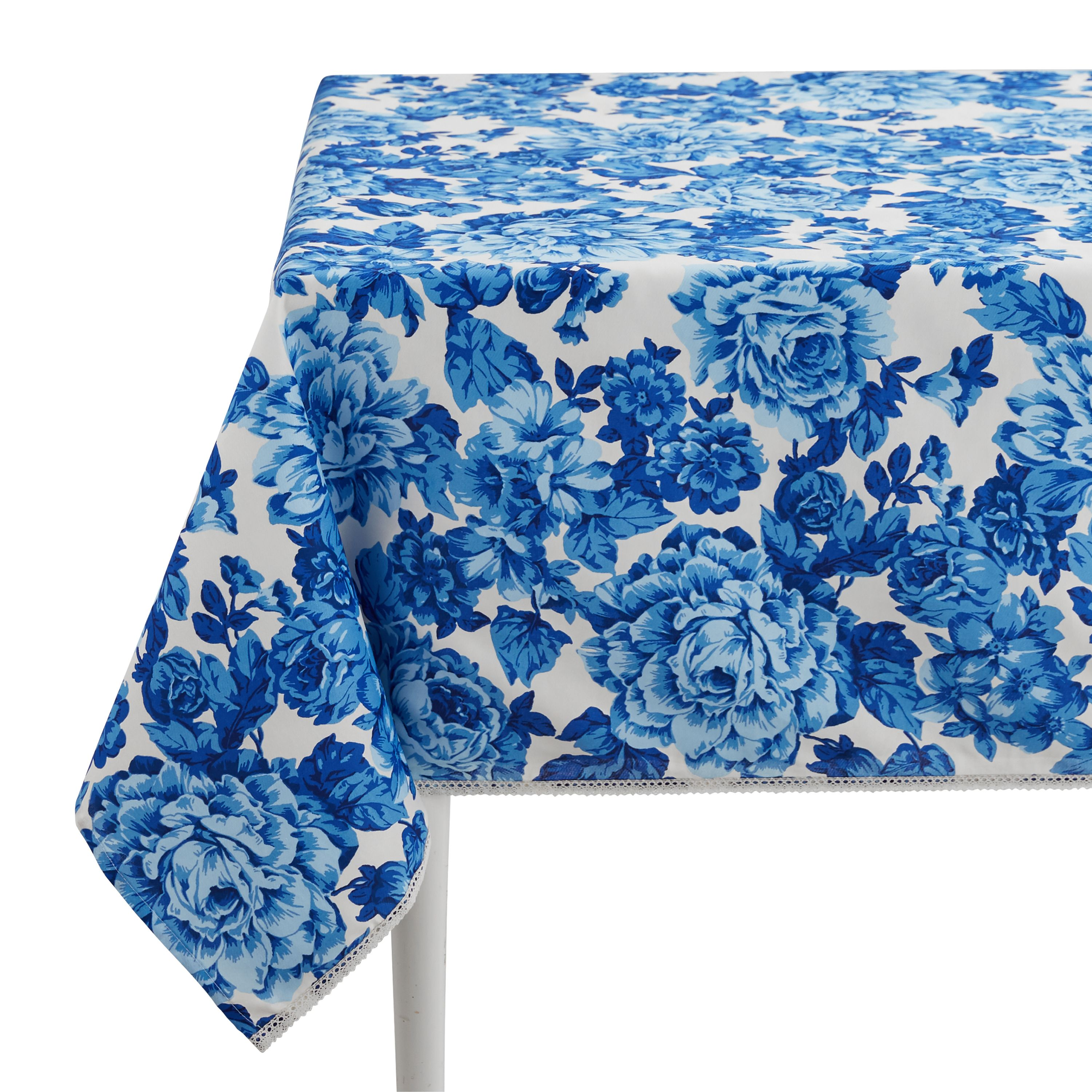 The Pioneer Woman Heritage Floral Fabric Tablecloth 60 W X 84 L Available In Multiple Sizes Walmart Com Floral Tablecloth Tablecloth Fabric Pioneer Woman