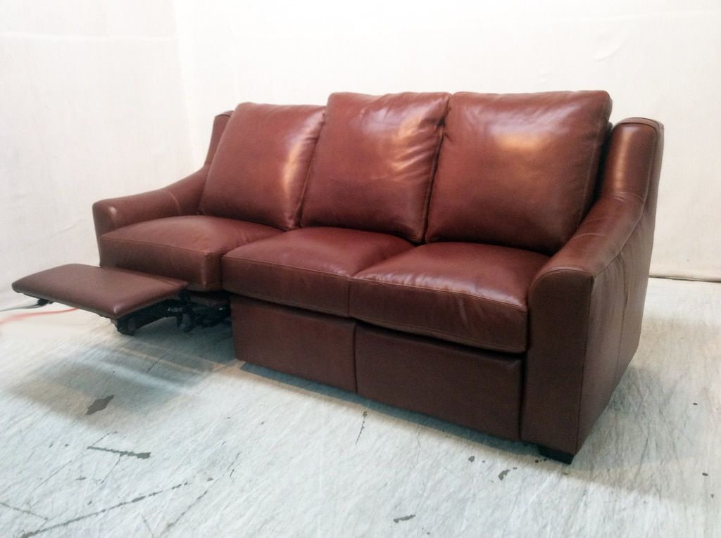 Marquis Power Leather Sofa Recliner With Nails On Sale