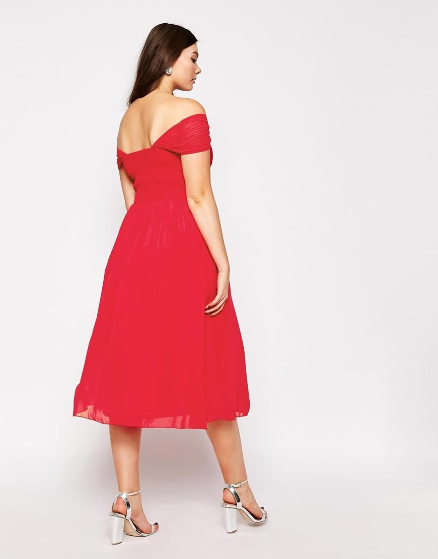 Little Mistress Plus | Little Mistress Plus Bardot Midi Prom Dress ...