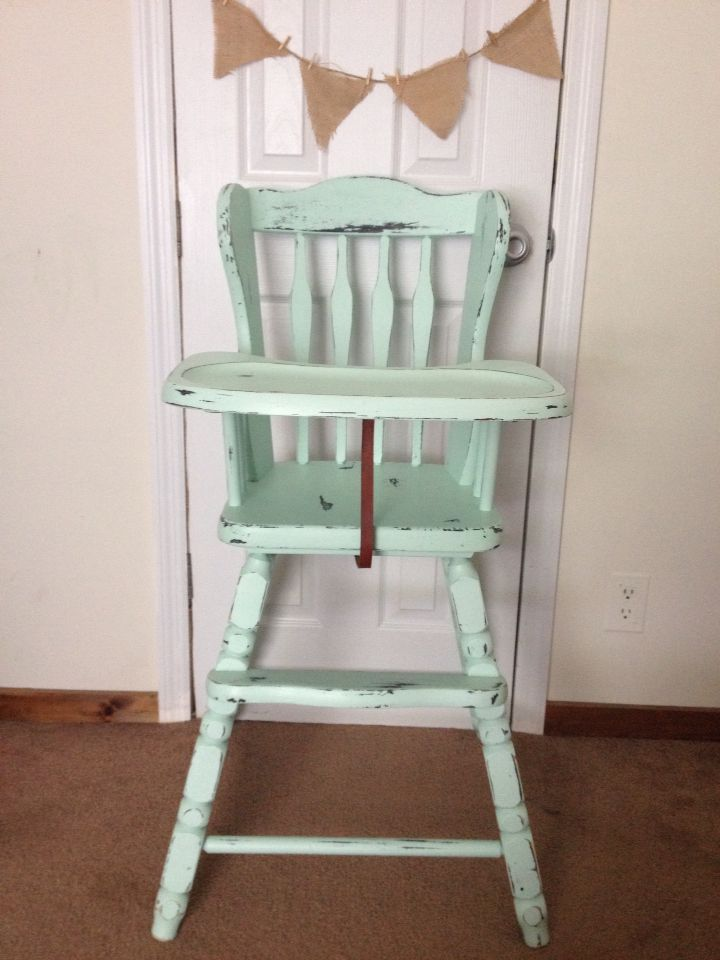 Painted high chair vintage high chair chalk painted & Painted high chair vintage high chair chalk painted | Custom Orders ...