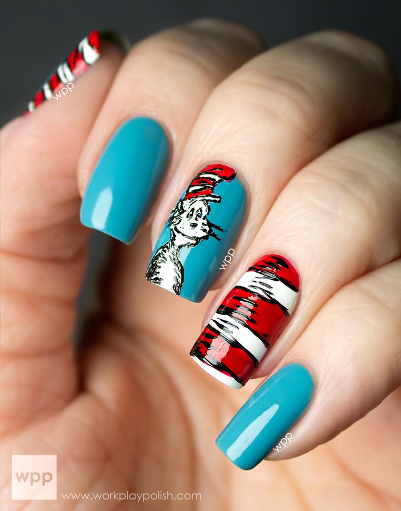 Zoya Cat In The Hat Nail Art From Work Play Polish The Nails
