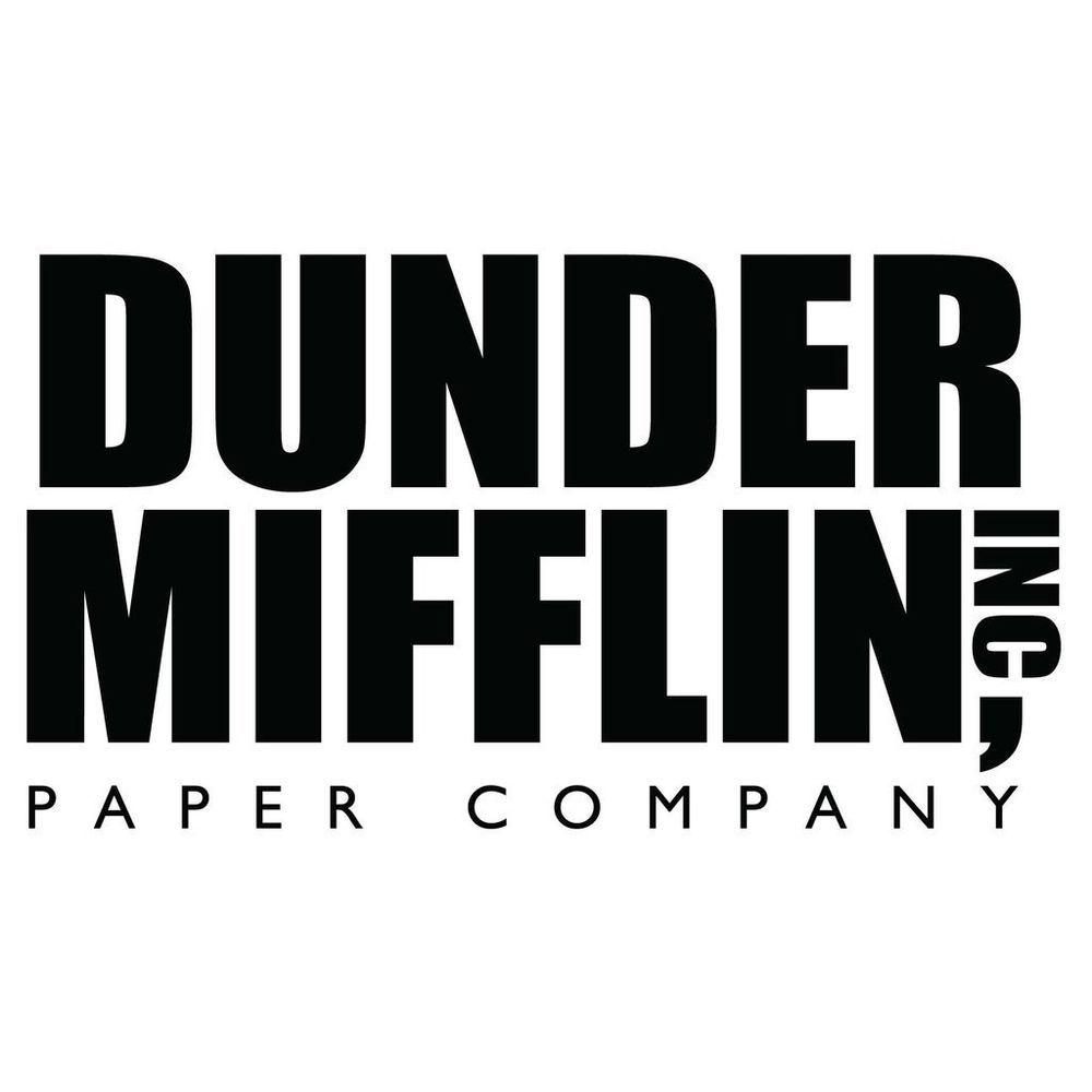 The Office Dunder Mifflin Logo Vinyl Decal Sticker Mifflin Funny Gifts Dunder Mifflin