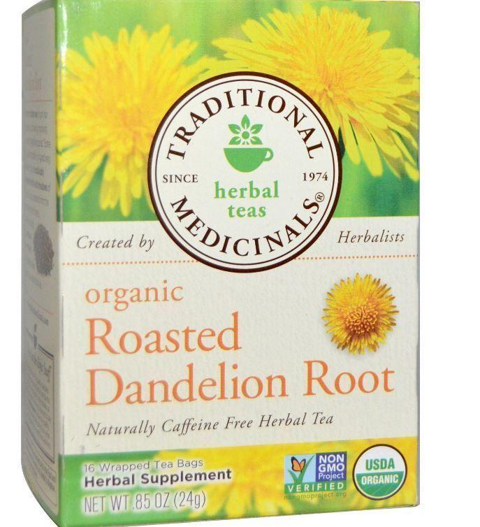Herbal Organic Roasted Dandelion Root Caffeine Free 16 Tea Bags 85 Oz 24 G Traditionalmedicin Dandelion Root Tea Organic Herbal Tea Roasted Dandelion Root