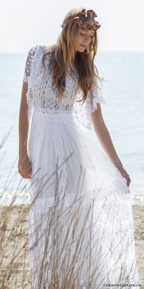Christos costarellos spring 2016 wedding dresses 2016 for Romantic bohemian wedding dresses
