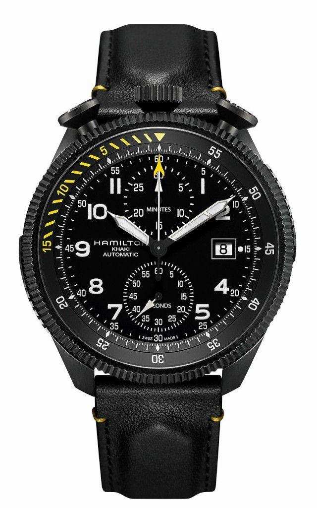 412e26e7fc1 Hamilton Khaki Takeoff Auto Chrono Limited Edition Watch