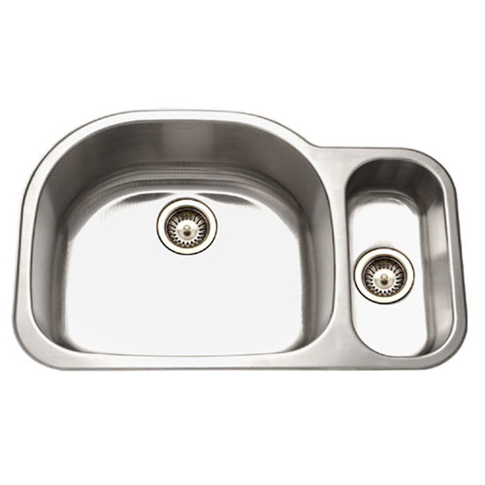 Houzer Medallion Designer Series Undermount Stainless Steel 70 30