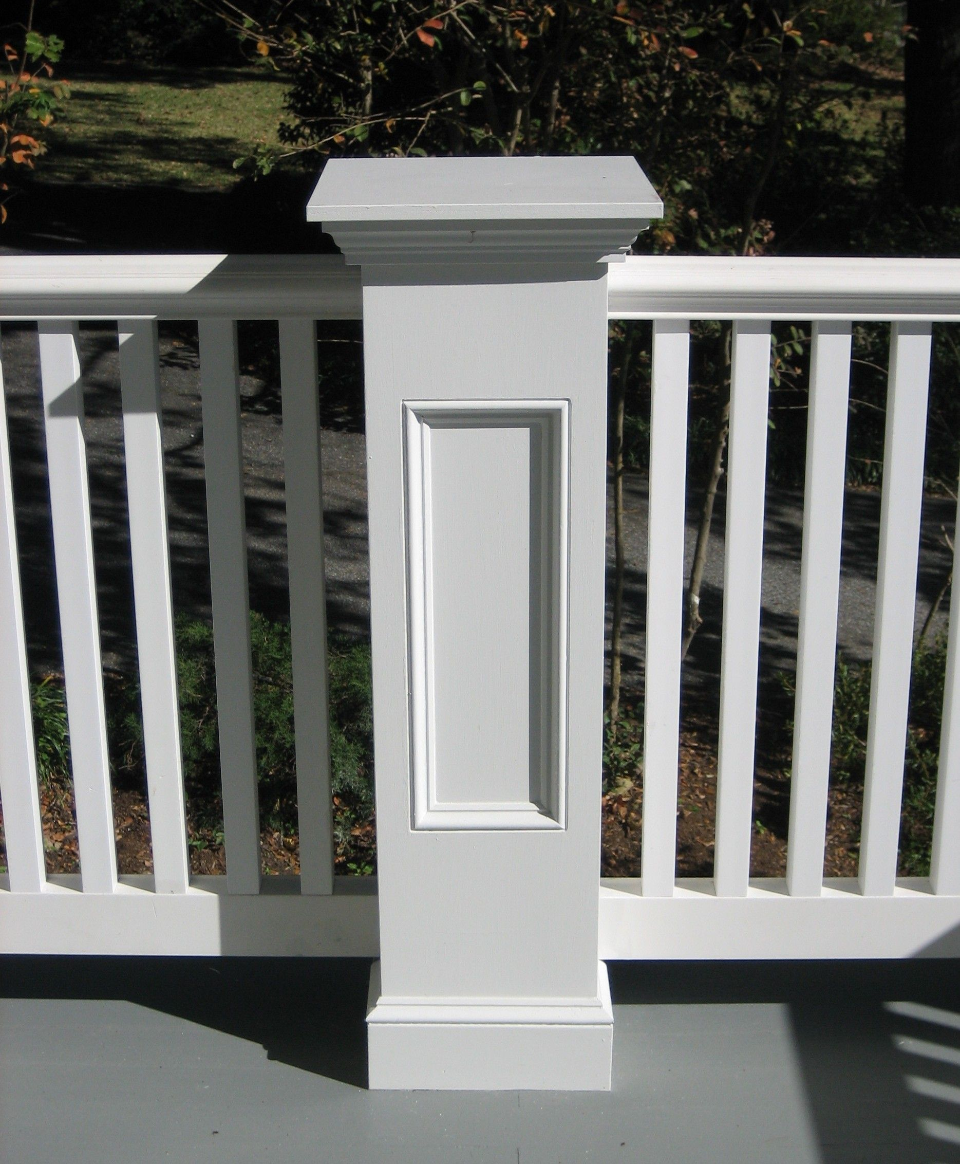 Best Newel Post With Recessed Panel Pvc Railing House 400 x 300