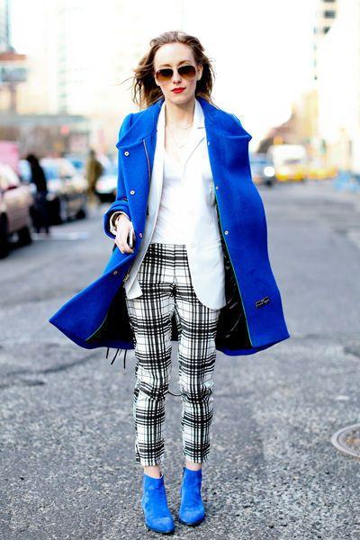 bleu streetstyle fashion week new york automne hiver 2013 2014 - Tempête de looks sous la neige à New York - L'EXPRESS