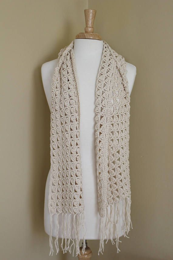 Crochet Pattern Easy Crochet Summer Scarf Pattern Boho Scarf