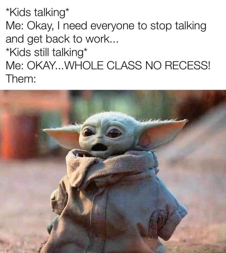 Pin By Alexis Green On Teacher Humor Yoda Funny Yoda Meme Funny Memes